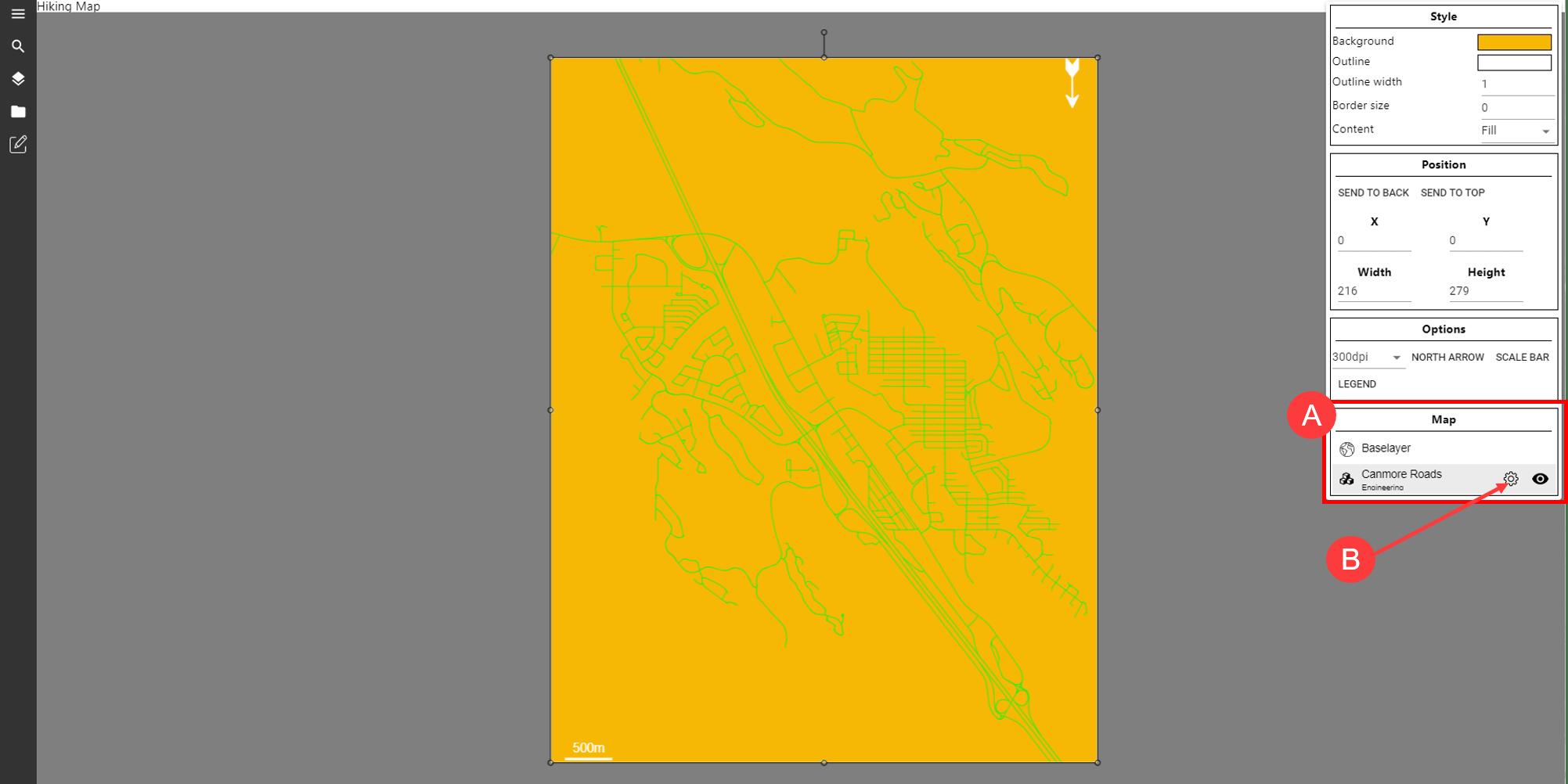 Layer formatting