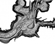 Topographic Map Toronto, showing the Don Valley and 0.5m Contours