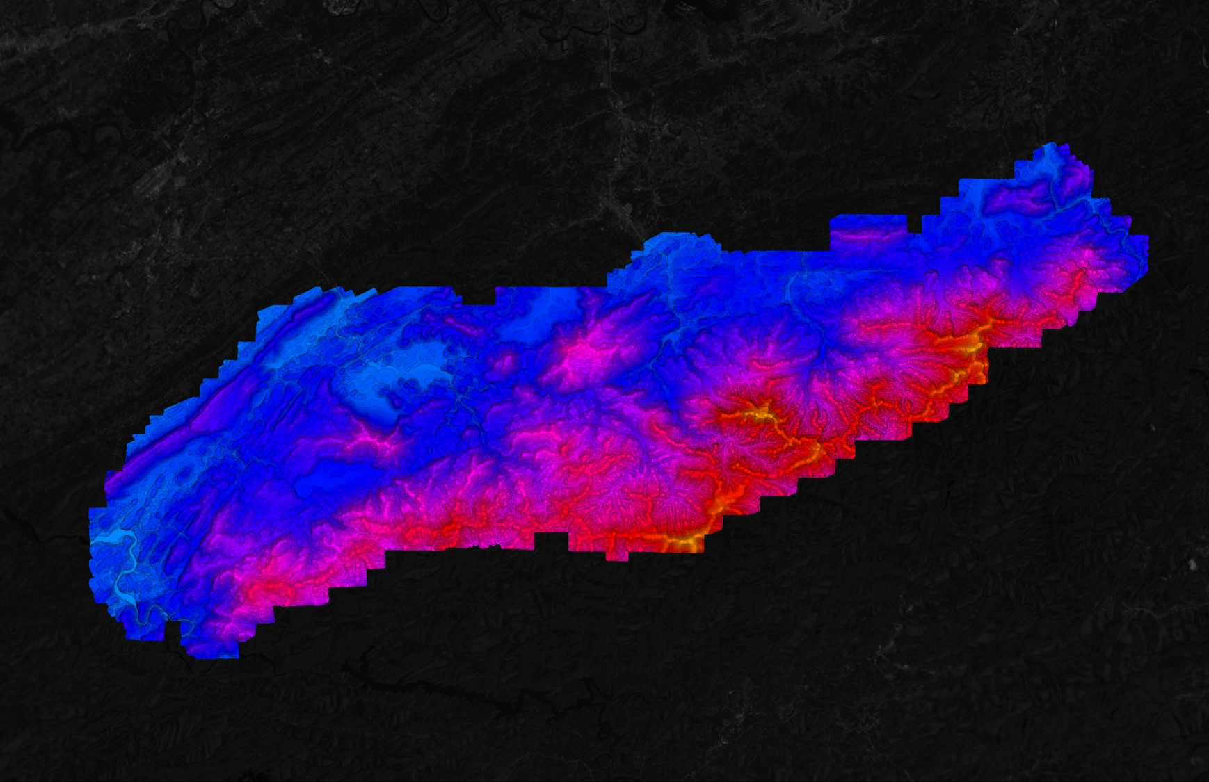 USGS LiDAR Point Cloud in Equator Smoky Mountains