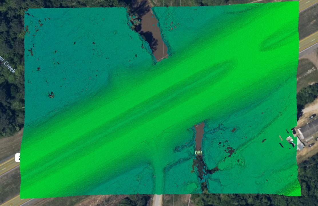 Lidar classified point cloud equator ground points
